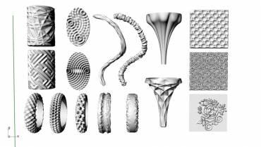 Cápsula: Texturas para joyería con mallas